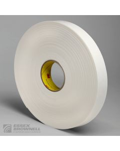 3M 4466 DBL COATED PE FOAM WHT 1X36YD