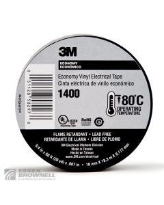 1400 7ML VINYL ELECTRICLBLACK 3/4X60FT-100/CTN