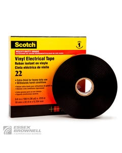 Flexible Insulation | Tapes | Electrical Tapes | Vinyl Backing | Rubber Adhesive | 3M-22