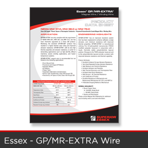 Essex - GPMR EXTRA Wire Data Sheet