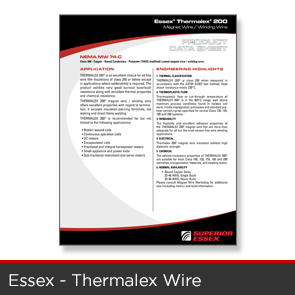 Essex - Thermalex Wire Data Sheet