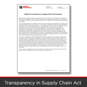 CA Transparency in Supply Chain